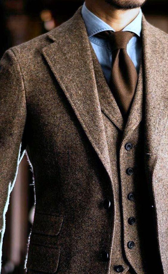 costume en tweed sur mesure